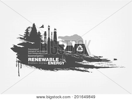 Abstract isolated texture grunge biomass energy. Renewable energy