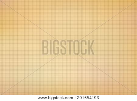 The grid on old paper with line weave texture and background Vector illustration