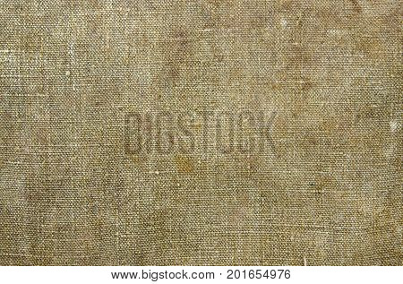 Texture of the old tarpaulin canvas or sackcloth as background