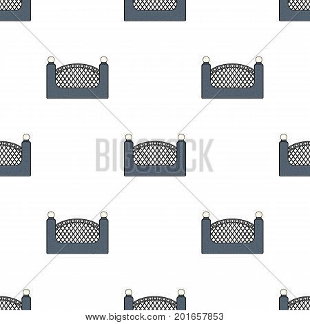 A fence of metal and bricks. A different fence single icon in cartoon style vector symbol stock illustration .