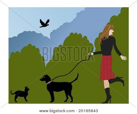 passear o cão e encontro uma ilustração de gato
