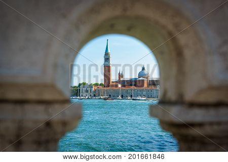 San Giorgio Maggiore church on the island of the same name in Venice, Italy