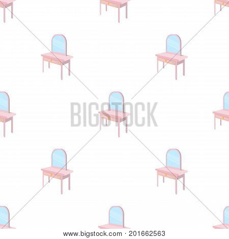 Dressing table with mirror. Furniture and interior single icon in cartoon style Isometric vector symbol stock illustration .