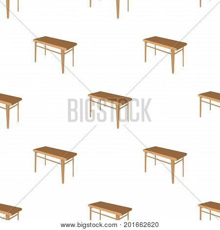 Wooden, dining table. Furniture and interior single icon in cartoon style Isometric vector symbol stock illustration .