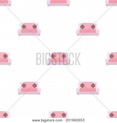 Soft, stylish and comfortable sofa. Furniture single icon in cartoon style Isometric vector symbol stock illustration .