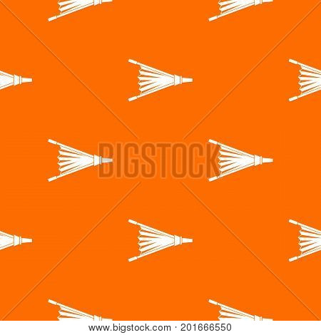 Fire bellows pattern repeat seamless in orange color for any design. Vector geometric illustration