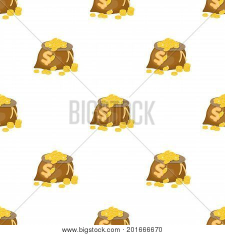 Sack, single icon in cartoon style.Sack, vector symbol stock illustration .