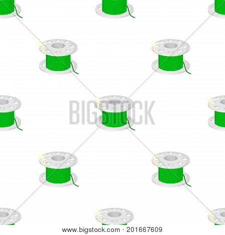 Metal bobbin for sewing. Sewing and equipment single icon in cartoon style vector symbol stock illustration .