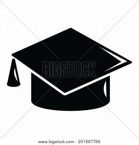 Graduation cap icon. Simple illustration of graduation cap vector icon for web