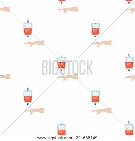 Procedure of blood transfusion. Medicine single icon in cartoon style vector symbol stock illustration .