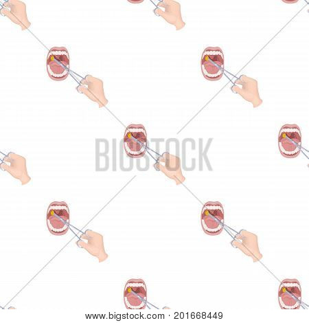 Treatment of the tonsils In the oral cavity. Medicine single icon in cartoon style vector symbol stock illustration .