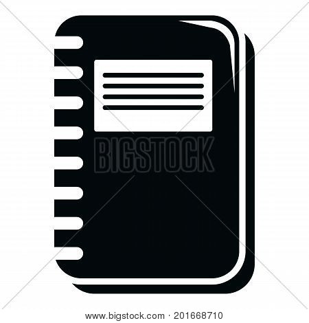Notebook icon. Simple illustration of notebook vector icon for web