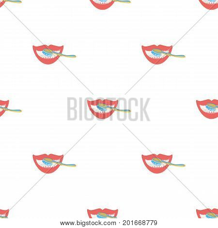 Care, brushing teeth with a toothbrush. Dental hygiene single icon in cartoon style vector symbol stock illustration .