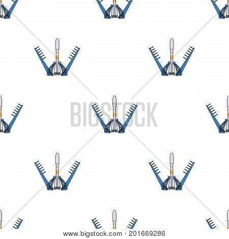 Launch of the spaceship. Space technology single icon in cartoon style vector symbol stock illustration .