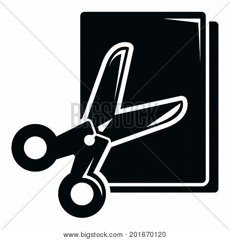 Scissors paper icon. Simple illustration of scissors paper vector icon for web