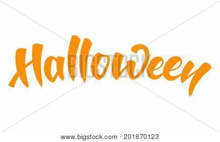 Halloween. Hand drawn brush lettering Halloween. Halloween holiday.