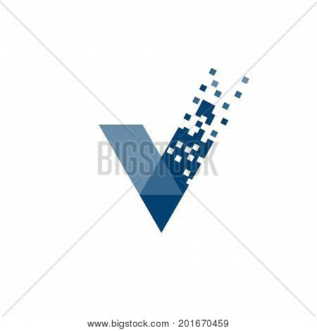 letter V data tech logo concept, right logo,v sign