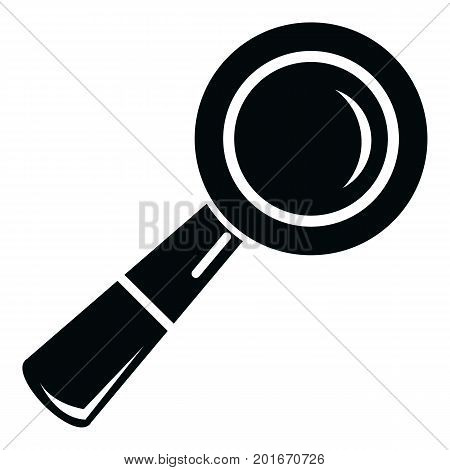 School loupe icon. Simple illustration of school loupe vector icon for web