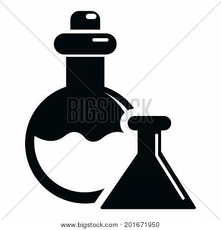 Flask icon. Simple illustration of flask vector icon for web