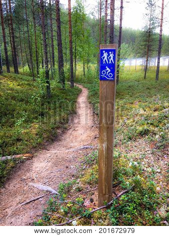 photo of nature trail sign. photo from Finland.