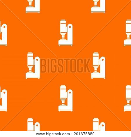 Blacksmith automatic hammer pattern repeat seamless in orange color for any design. Vector geometric illustration