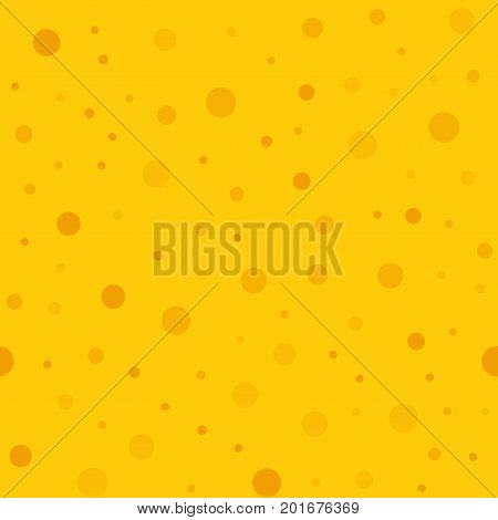 Orange Polka Dots Seamless Pattern On Yellow Background. Attractive Classic Orange Polka Dots Textil