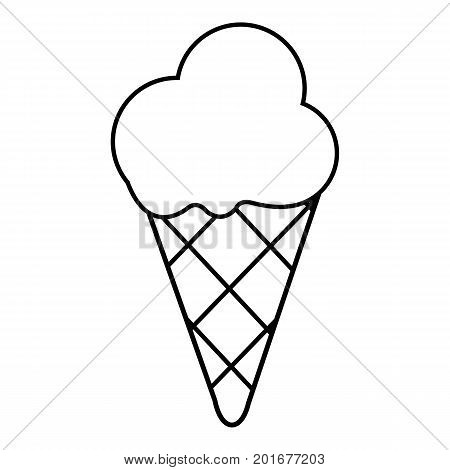 Cold ice cream icon. Outline illustration of cold ice cream vector icon for web