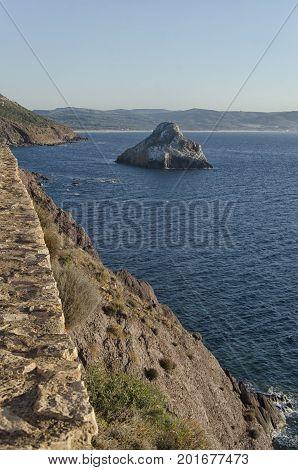 View of the Sardinian coastline near Masua