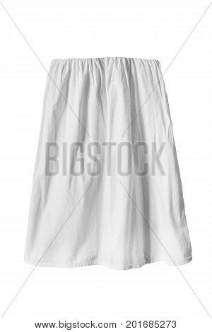 White linen blank basic skirt isolated over white