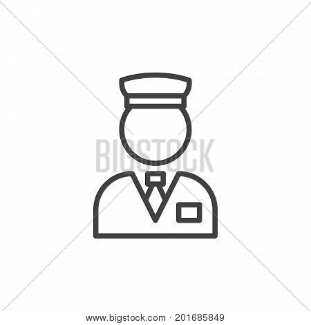 Valet line icon, outline vector sign, linear style pictogram isolated on white. Concierge symbol, logo illustration. Editable stroke. Pixel perfect vector graphics