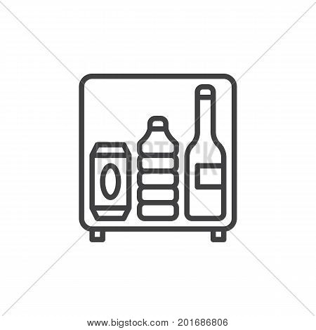 MIni bar line icon, outline vector sign, linear style pictogram isolated on white. Symbol, logo illustration. Editable stroke. Pixel perfect vector graphics