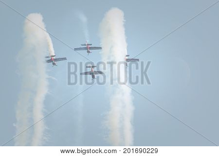 Radom, Poland - August 26, 2017 :aerobatic Group Formation
