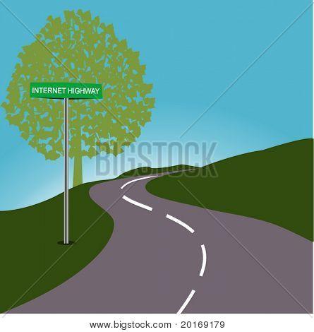 Roadsign INTERNET HIGHWAY