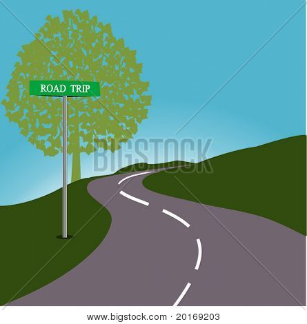 Roadsign ROAD TRIP