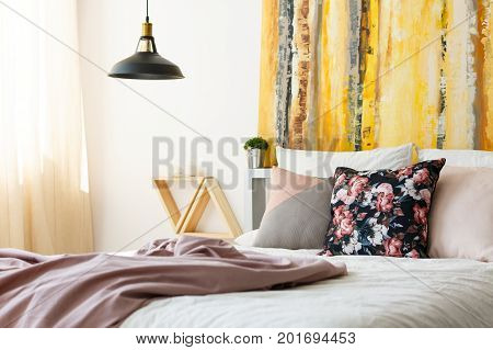 Bedroom With Earth Color Palette