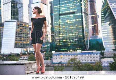 Woman Posing In The Modern City