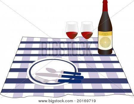 picnic vector