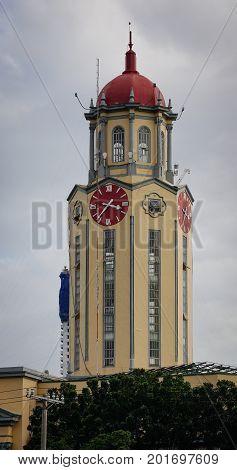 The Clock Tower Of The Manila City Hall