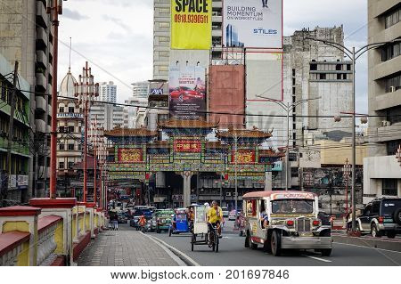 Chinatown Street In Manila, Philippines