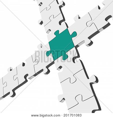 Three Dimensional Puzzle Connection