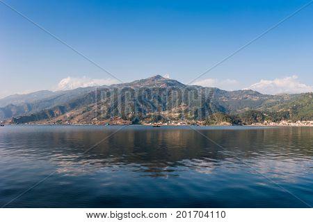 The Phewa Lake, Pokhara, Nepal