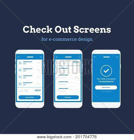 Mobile App Wireframe Ui Kit. Detailed wireframe for quick prototyping. Checkout and cart mockup screens.