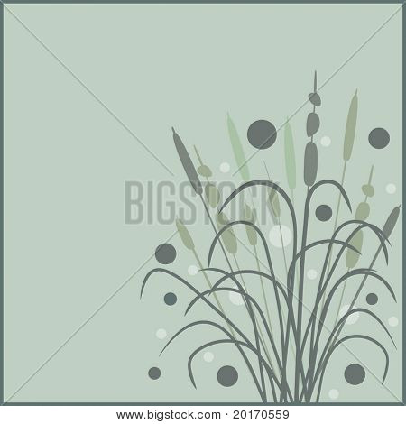 bullrushes stylized