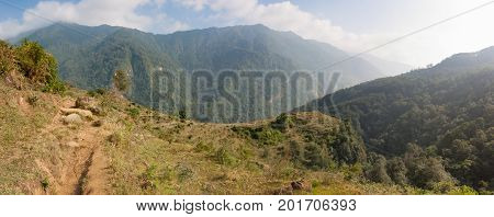 Rice Fields On The Annapurna Base Camp Trek, Nepal