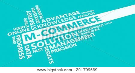M-commerce Presentation Background in Blue and White