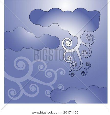 stormy skies vector