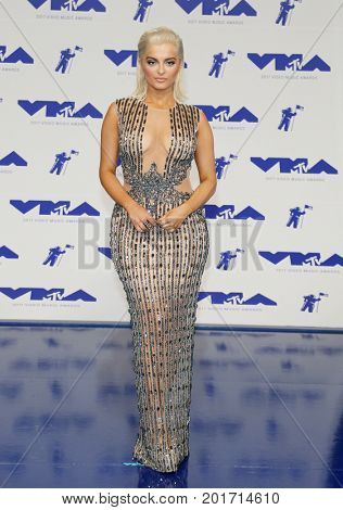 Bebe Rexha at the 2017 MTV Video Music Awards held at the Forum in Inglewood, USA on August 27, 2017.