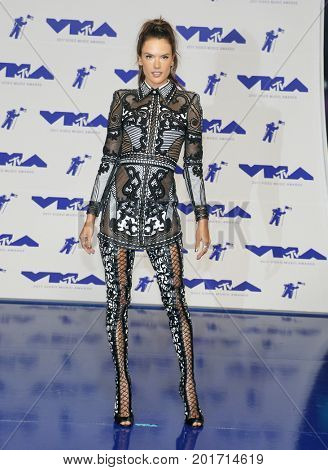Alessandra Ambrosio at the 2017 MTV Video Music Awards held at the Forum in Inglewood, USA on August 27, 2017.