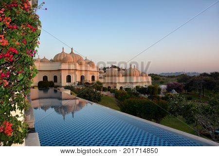 Pool At The Oberoi Udaivilas Hotel