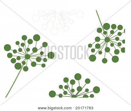 funky flowerhead design vector